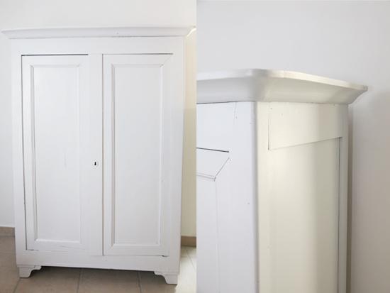 les vieux meubles armoire ancienne pour enfant blanc gris. Black Bedroom Furniture Sets. Home Design Ideas
