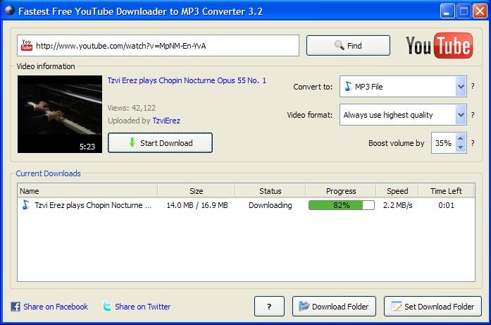 Free Download YouTube Downloader 2.1.3 Software or