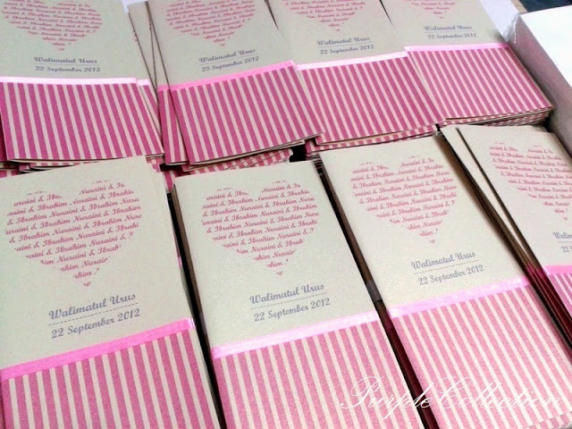 Kad Kahwin Pink Heart, Wedding card, pink heart card, pink stripes card, wedding invitation, malay wedding cards, hearts with words