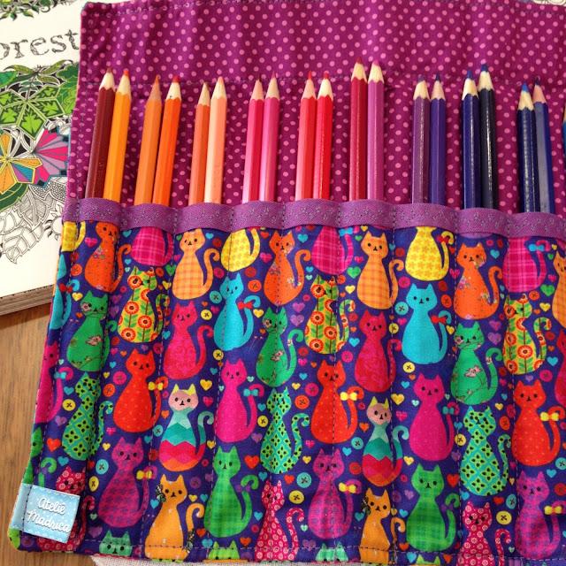 Estojo de rolo para lápis de cor 36 cores | @ateliemadrica