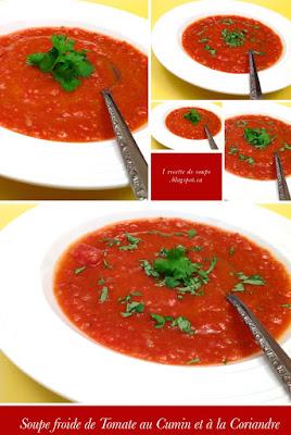 1 recette de soupe gaspacho ou gazpacho potage froid au concombre tomate et poivron. Black Bedroom Furniture Sets. Home Design Ideas