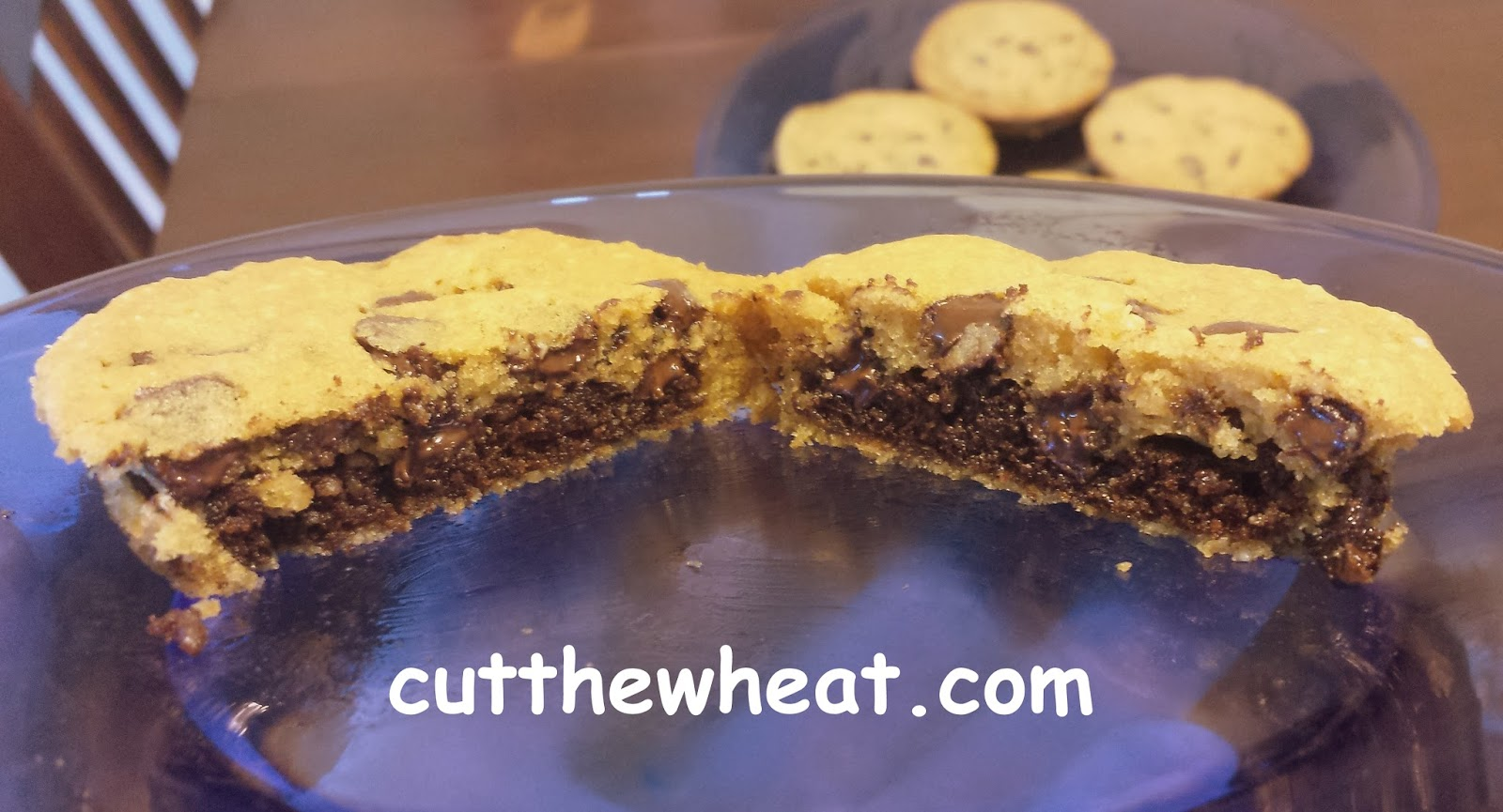 Brownie Stuffed Chocolate Chip Pillow Cookies: Low Carb, Gluten Free ...