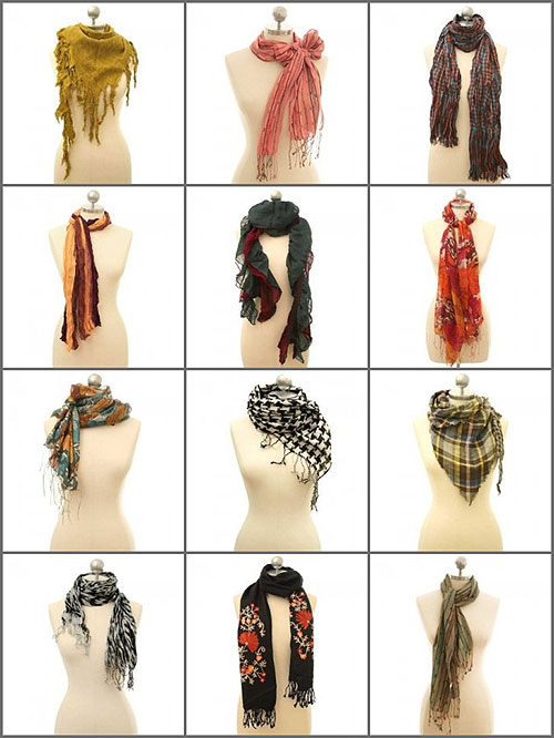 Fashion Tips  How to Tie a Scarf  Fashion Scarf Tying