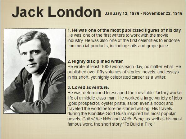 naturalism in the works of jack london Interest in jack london's works was rekindled by his premature death in 1916   other articles addressed the influence of french literary naturalism, as well as.