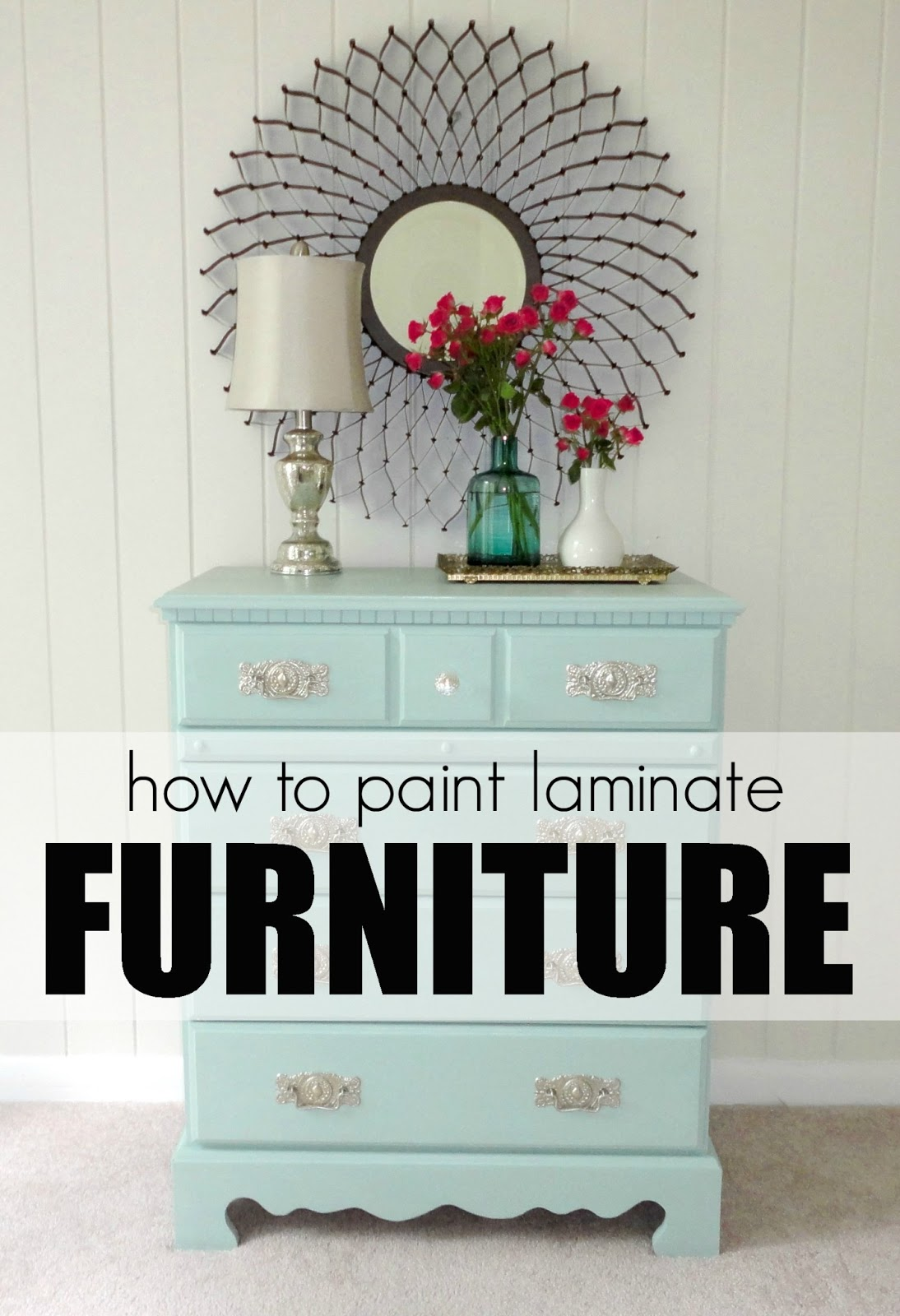 How To Paint Laminate Furniture in 3 Easy Steps. LiveLoveDIY  How To Paint Laminate Furniture in 3 Easy Steps