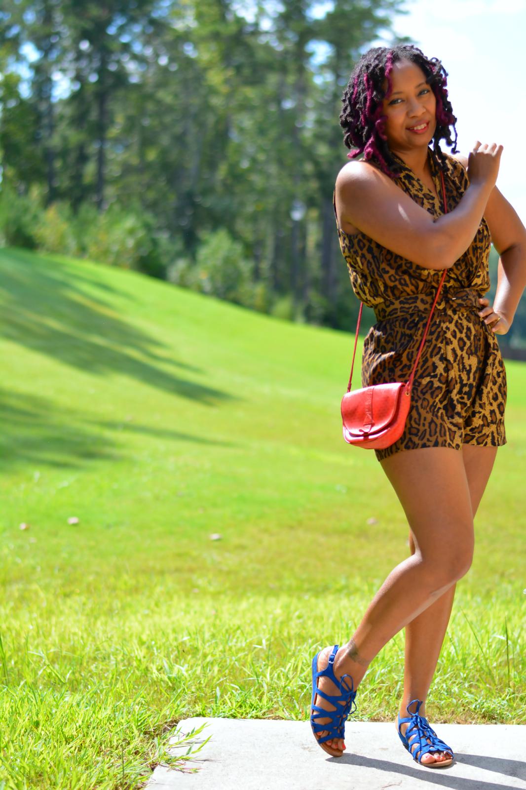 how to wear leopard print romper