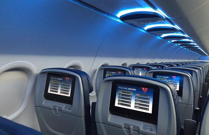 Delta air lines estrenar nuevos interiores de cabina en for Cabina principale delta
