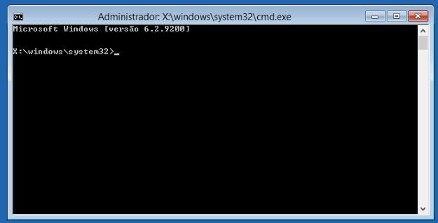 Instalação Windows 7 - Prompt de comando