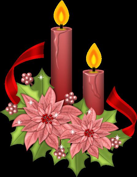 Im genes y gifs de navidad velas de navidad con flores - Imagenes flores de navidad ...
