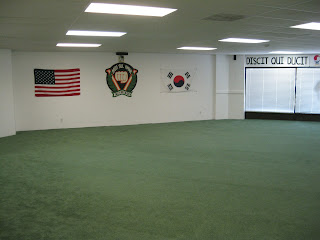 A martial arts school workout area in Littleton, CO