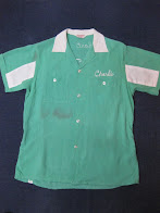 画像①               50's 「NAT NAST」               RAYON BOWLING SHIRTS (OIL MAKER)