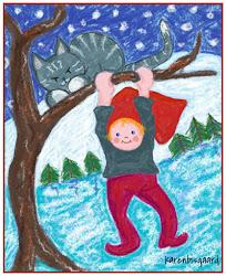 Malede Postkort med Skovnisser.