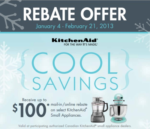 Canadian Daily Deals KitchenAid Rebate fer Receive Up