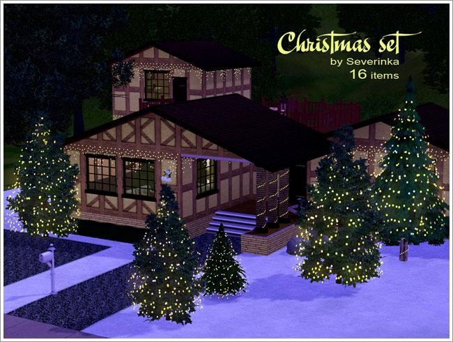 Christmas Decor Sims 3 : My sims christmas decor set by severinka