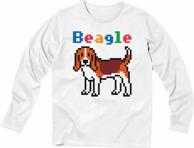 Pixel Party Boy「Beagle犬索」[Stylish Long sleeve] 4.3oz | T-SHIRT COUNCIL