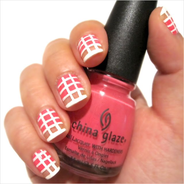 Pink & White Nail Art Tutorial Chanel Spring Summer 2013 Ready To Wear Show Inspired