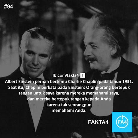 Albert Einstein pernah bertemu Charlie Chaplin