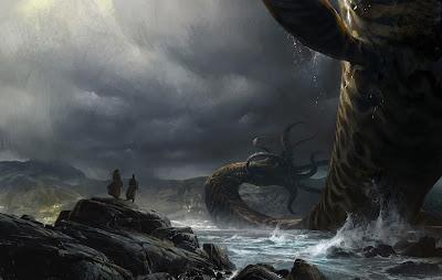 Deep Sea Dragon Background Wallpaper