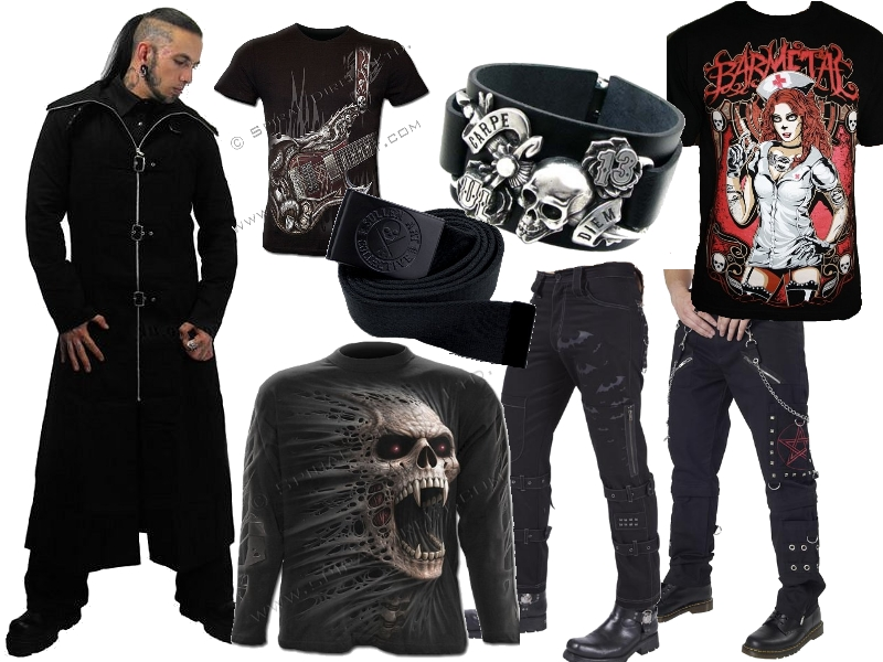 Men In Goth Swap Plain Black Tees For Rock Metal Style With These Bad Boys From Spiral Direct Or Something Slightly More Punk Try Limited