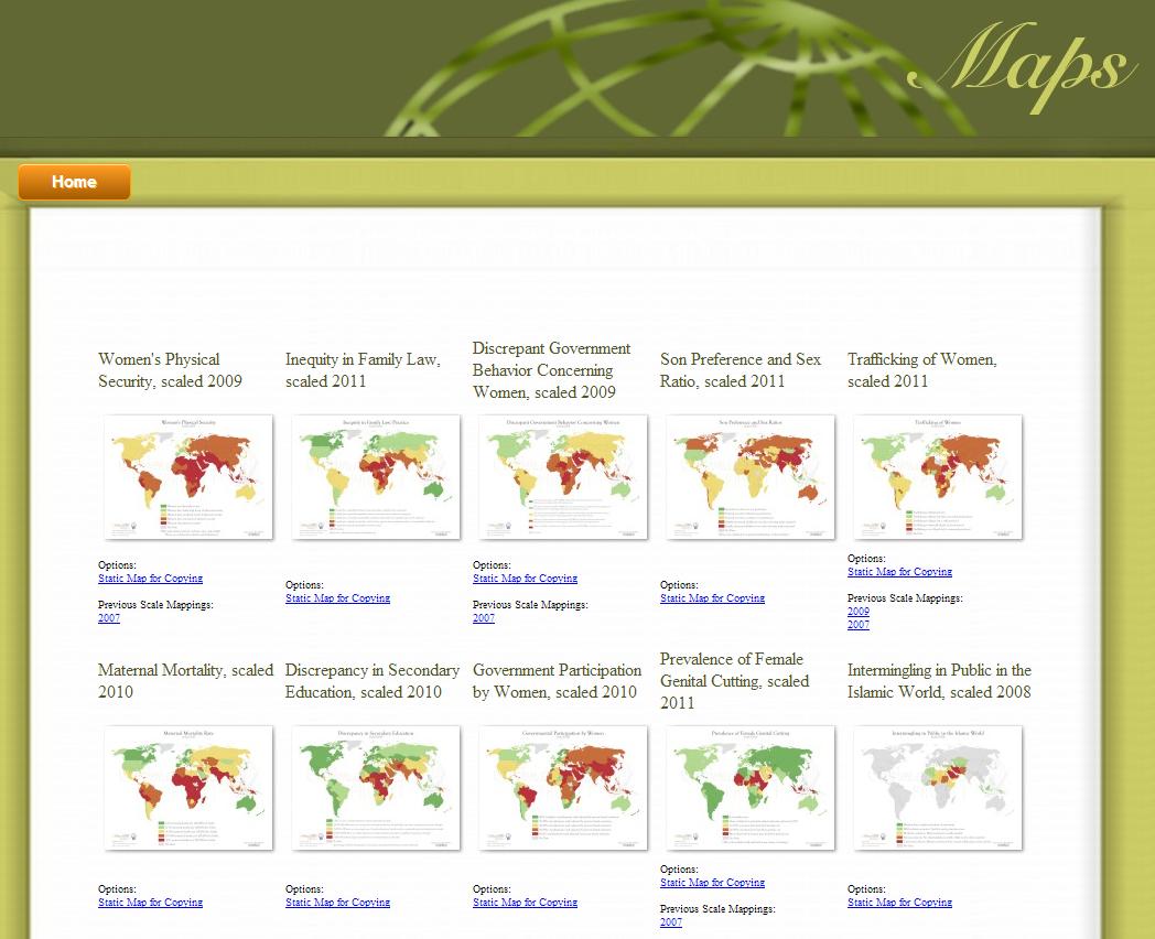 28 Mapas sobre la situación de la mujer en el Mundo