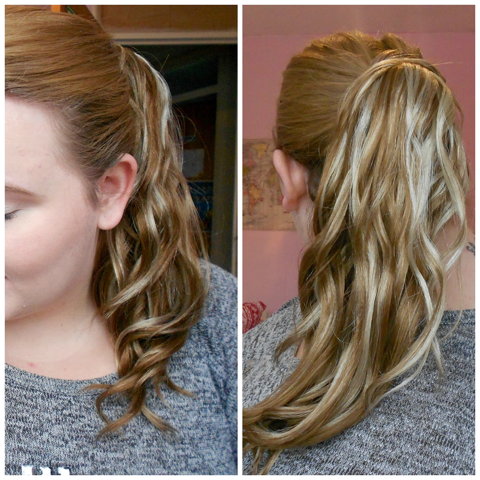 hot hair ponytail extension strawberry blonde mermaid