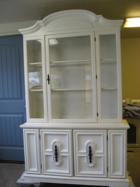 White Hutch With Glass Doors Image Collections Doors Design For House
