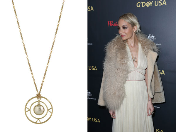 Nicole richie fashion in nicoles closet alberta ferretti opening the four elements pendant necklace mozeypictures Image collections