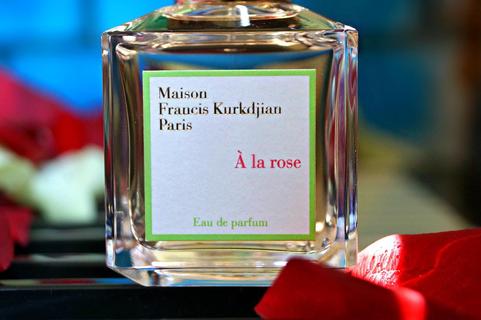 Beauty unearthly maison francis kurkdjian a la rose eau for A la rose maison francis kurkdjian