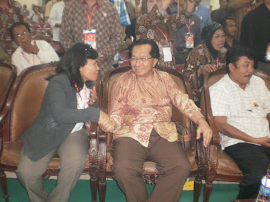 Dirut PT.Jamsostek dgn Hoiza Siregar Ketua APKLI Jakarta membahas PKBM APKLI di Munas APKLI