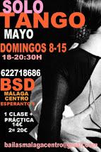 SOLO TANGO EXPRESS, 8 Y 15 DE ABRIL EN BSD BAILAS SOCIAL DANCE MÁLAGA CENTRO.
