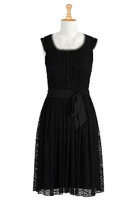 dress, black lace, eShakti