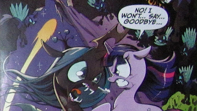 Chrysalis battles Twilight