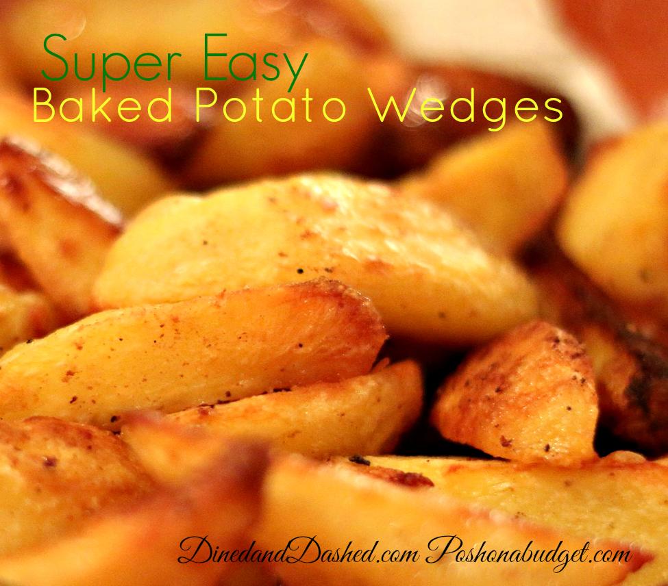 Super Easy Baked Potato Wedges