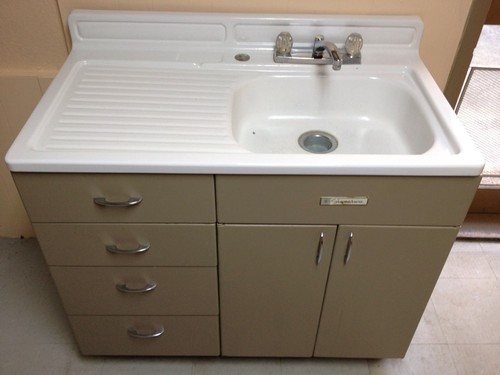 Metal Kitchen Sinks And Cabinets Antique Vintage Youngstown