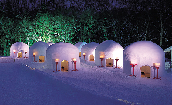 What a feeling japan kamakura snow house for Dome house in japan