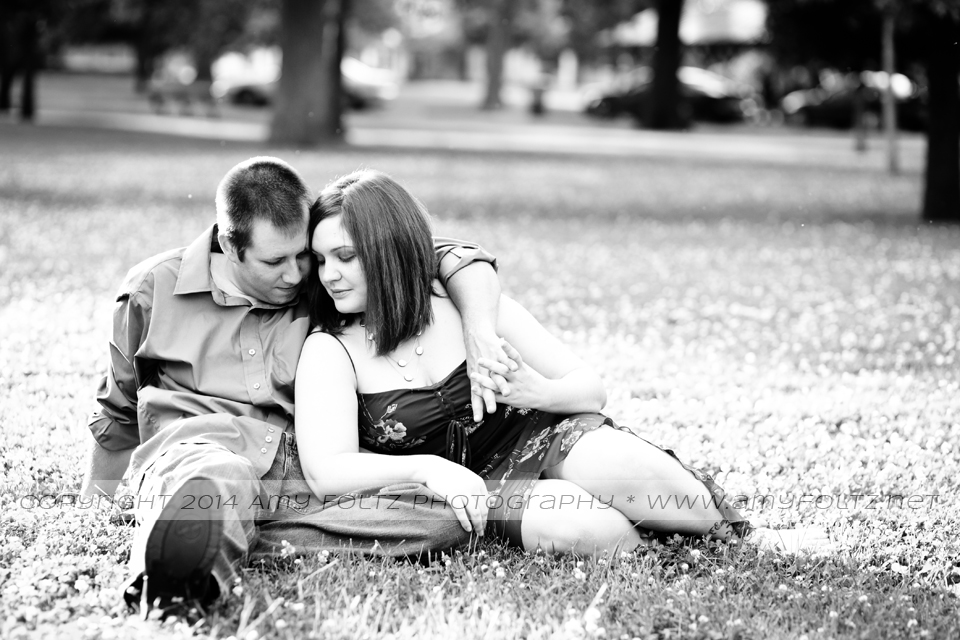 photo of couple at Collett Park in Terre Haute, Indiana