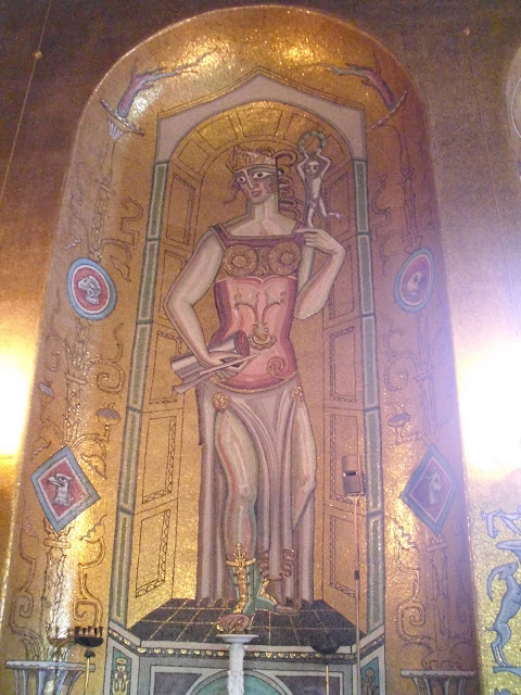 stockholm city hall interior mosaics
