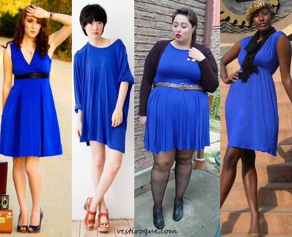 Vestido azul royal como usar