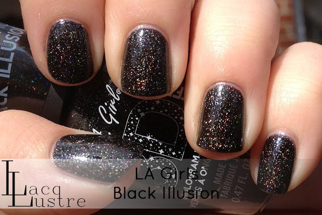 LA Girls Black Illusion swatch