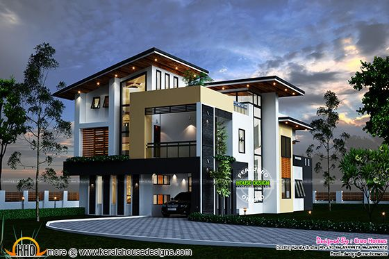 August 2015 kerala home design and floor plans for Contemporary model homes