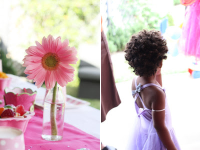 Pink Fairy Princess Birthday Party gerbera