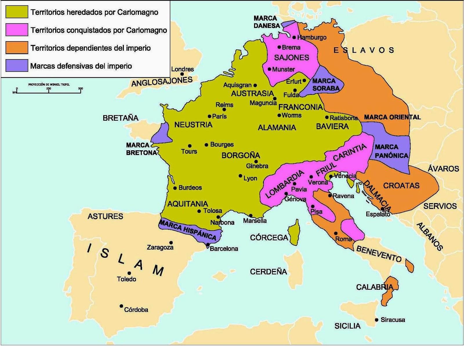 Profesor de Historia Geografa y Arte Mapas de la Alta Edad Media