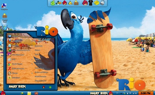 Angry Birds Skin Pack for Windows 7