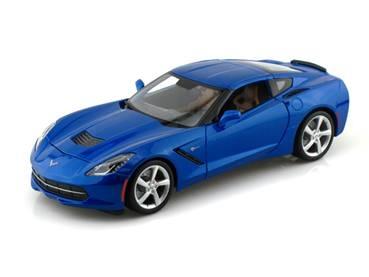 Chevy Diecast Maisto No. 31132Blue 2014 Chevy Corvette Stingray in Blue
