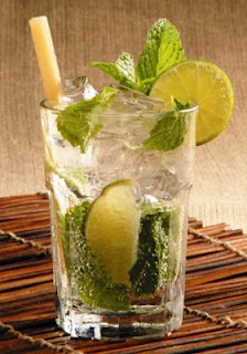 photo verre mojito cubain paille