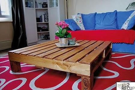 Casa com pallet mesa de centro de pallet - Mesa centro palet ...