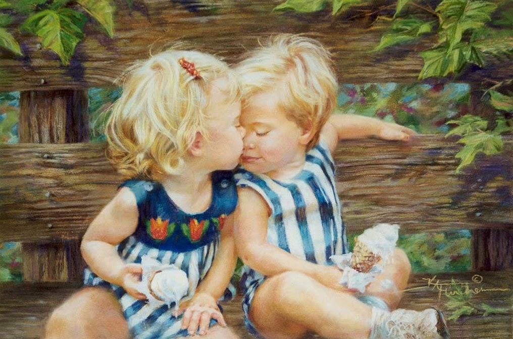 Рисунки на холсте с детьми