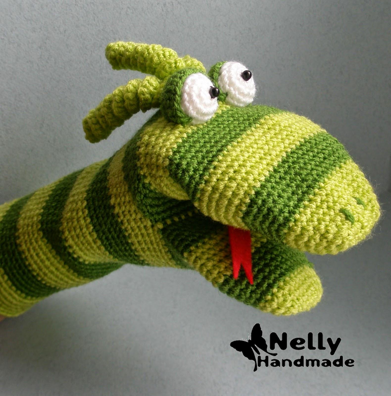 Вязание игрушки на руку