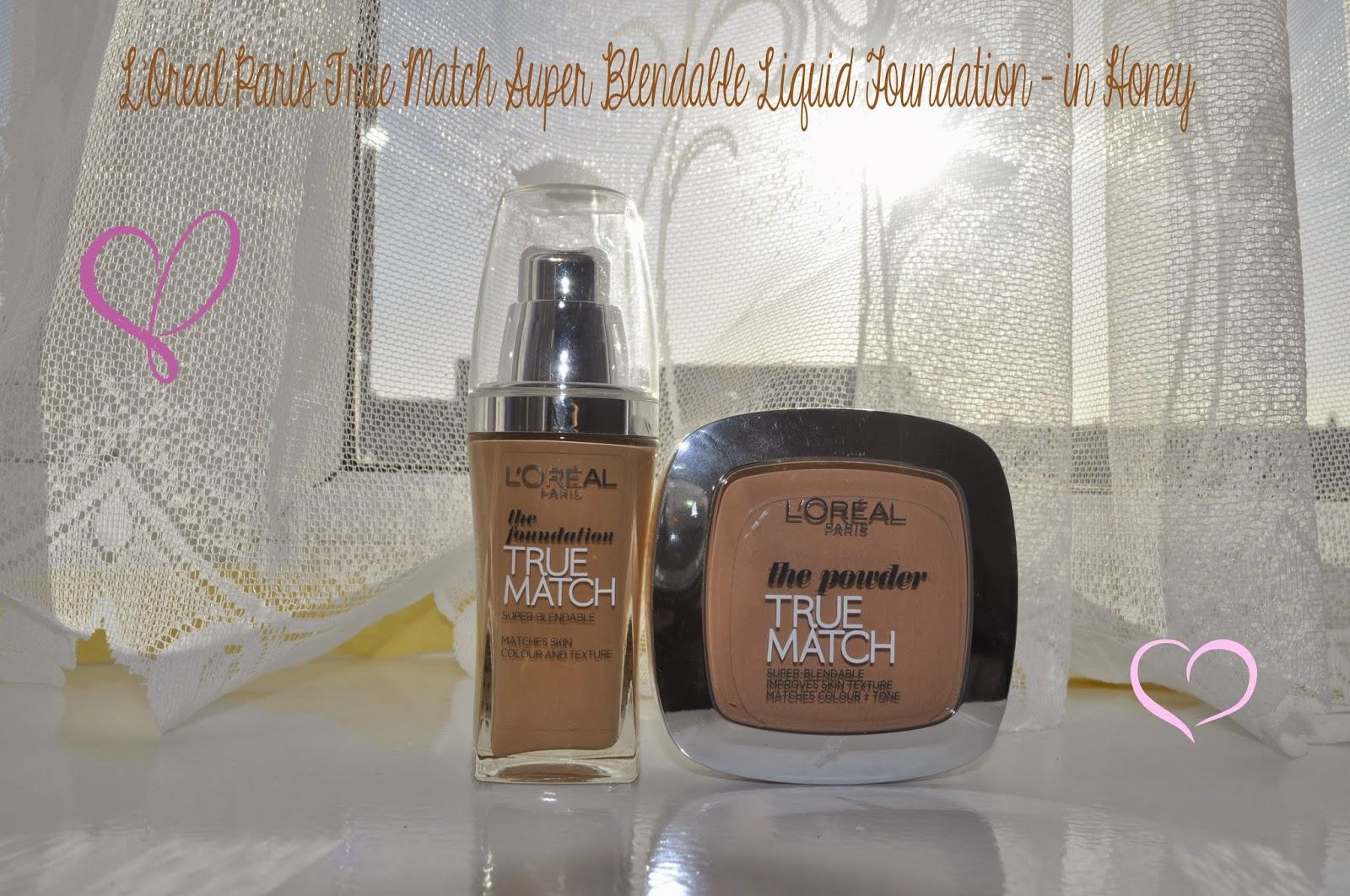 L'Oreal True Match Super Blendable Liquid Foundation - Honey (N6) REVIEW. Wednesday, 18 December 2013