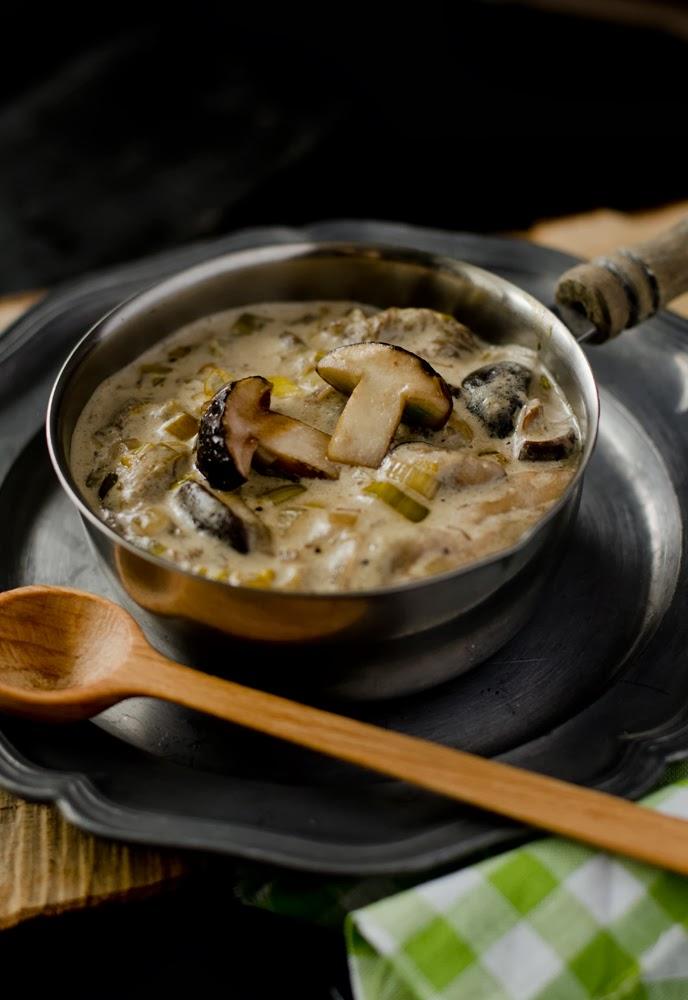 sos grzybowy, sos z grzybów leśnych, sos z borowików, podgrzybków